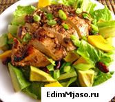 Куриный салат с соевым соусом