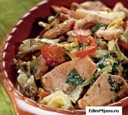 Свинина с овощами Svinina s ovoshhami 250x226 Приготовление свинины в духовке