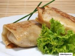 Как приготовить блинчики с мясом