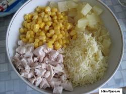 Вкусный салат с курицей Vkusnyj salat s kuricej 250x187 Самый вкусный салат с курицей