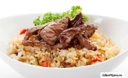 Как готовят говядину с рисом