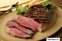 Жареный бифштекс  250x165 Как готовить говядину