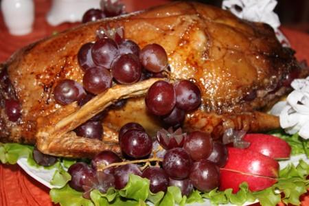 Как приготовить гуся с виноградом