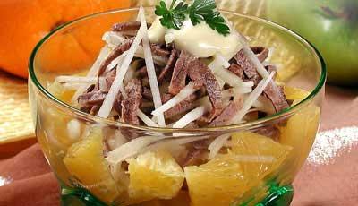 Салат с говядиной и рисом