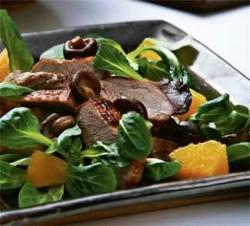 Салат из утки с грибами
